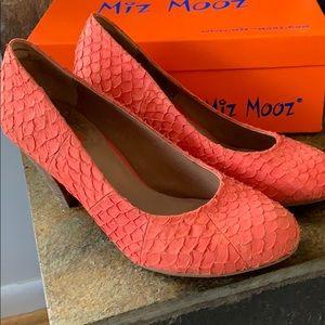 Miz Mooz heels coral